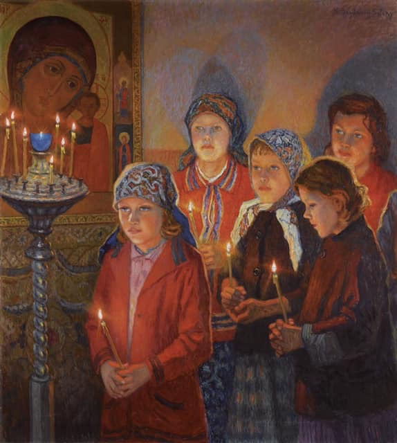Painting by  Nikolay Bogdanov Belsky