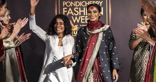 © Upasana website. Uma Prajapati, founder of Upasana at Pondicherry Fashion  Week 2018