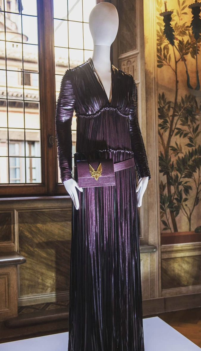© Vegea. Outfit made of Vegea fabric displayed at the V&A Museum