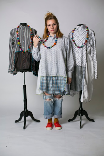 © Claudia Grau  Men's cotton dress shirts cut up and redesigned into cool cotton dresses, tops and tunics