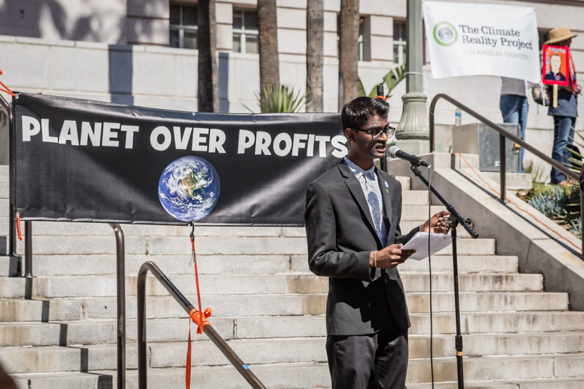 Kevin Patel speaking at The Climate Reality Project, Los Angeles
