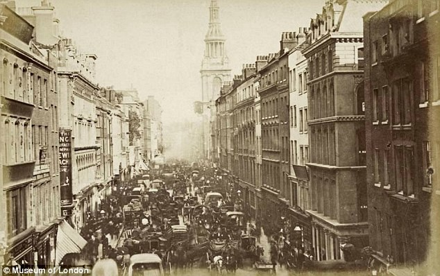 The streets of Victorian London, teeming with horses.