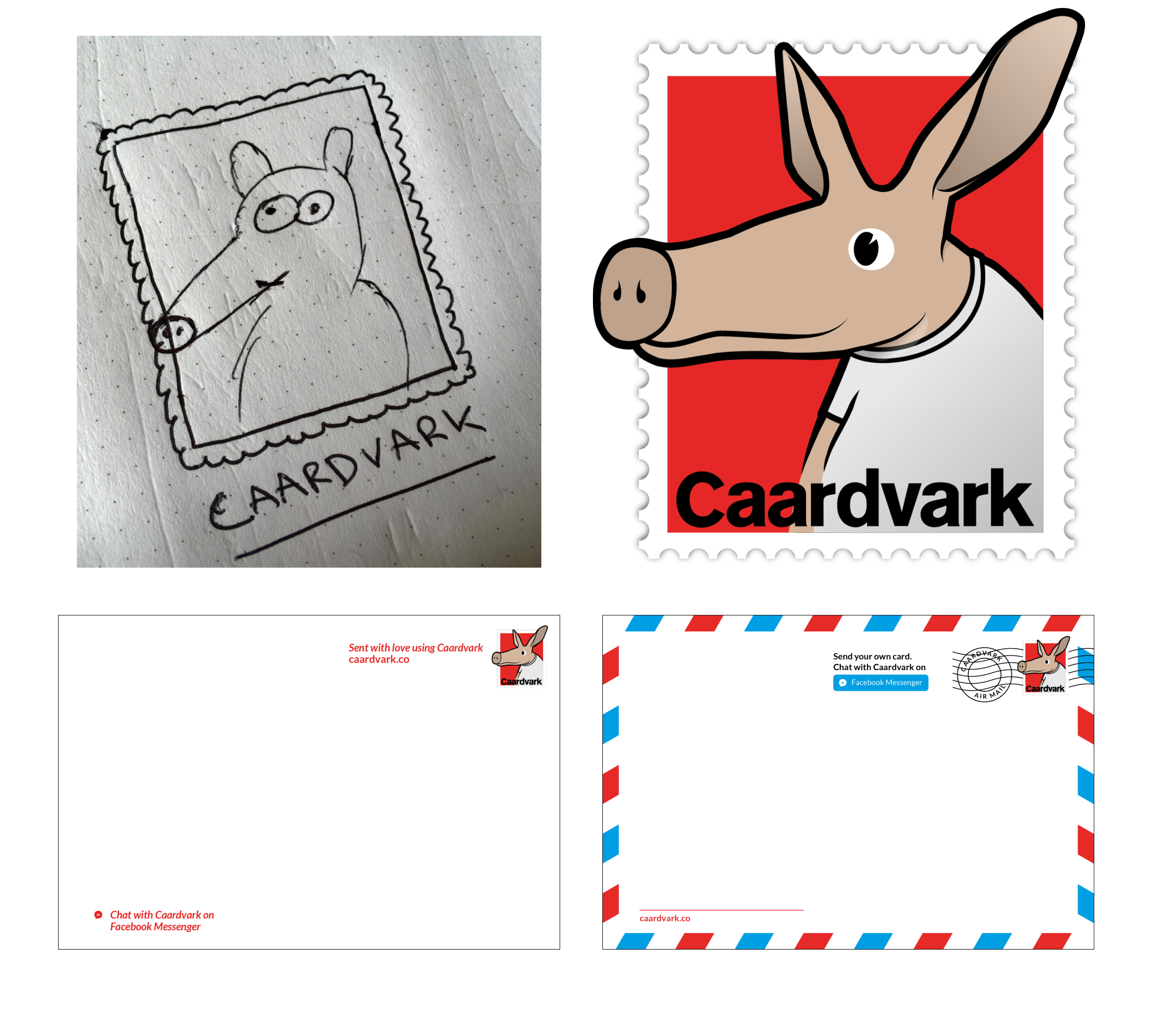 My mockup logo and our original template with Kellen and Alicia's work on the right.