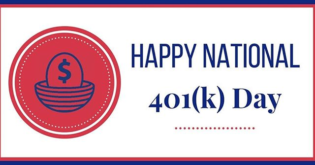 Happy National#401KDay from your#RetireHappyFamily!!! Contact us today @  1-888-909-4760 or retirehappy.comto learn how we can help you celebrate this day yearly with your own#Solo401K!!