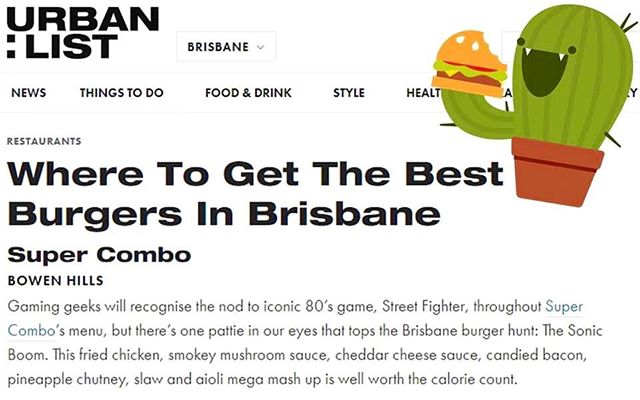 Where To Get The Best Burgers in Brisbane. 🕺🍔🥳🍔👅🍔😍🍔🤤🍔🤩🍔💃 Thank you @urbanlistbne 🙏  #grateful #supercombobrisbane #burgers #brisbaneburgers #brisbaneeats #streetfighter #brisbane
