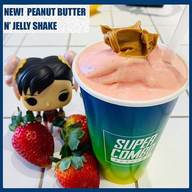 💃🏽🕺🏽spread it like peanut butter jelly 🎶 ❗️NEW PBJ SHAKE AVAILABLE NOW❗️🤩🥤😋 #supercombobrisbane #brisbaneshakes #shakes #pbj