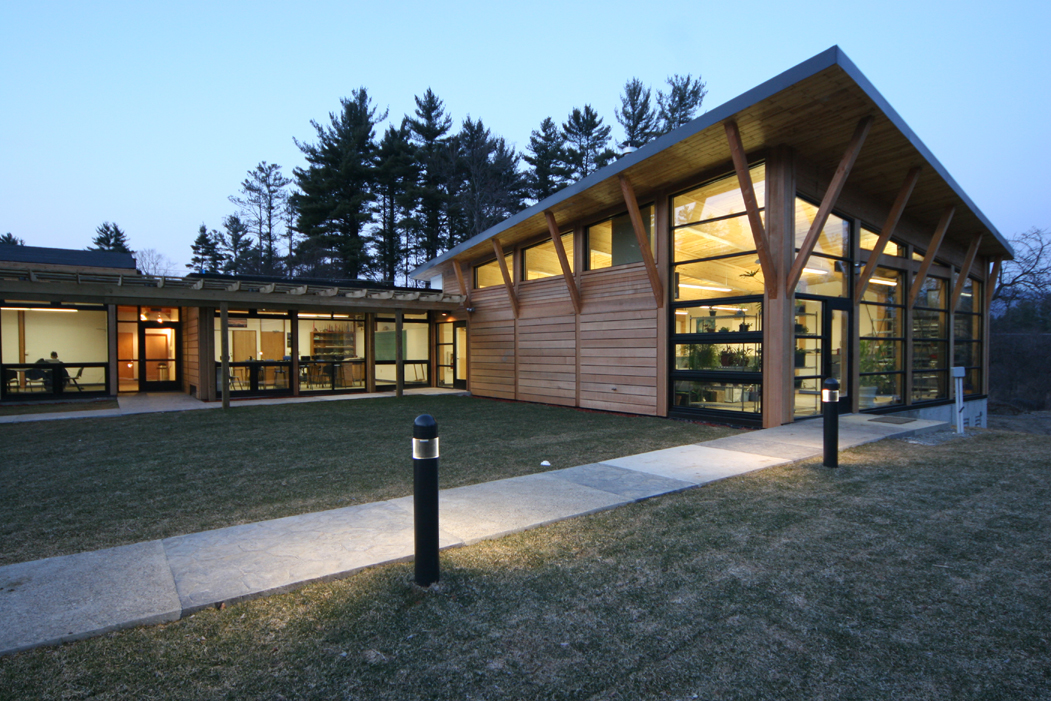 Buxton School's new classroom wing and biology lab.