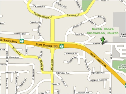 Map of our location at 370 Mathers Avenue, West Vancouver, BC