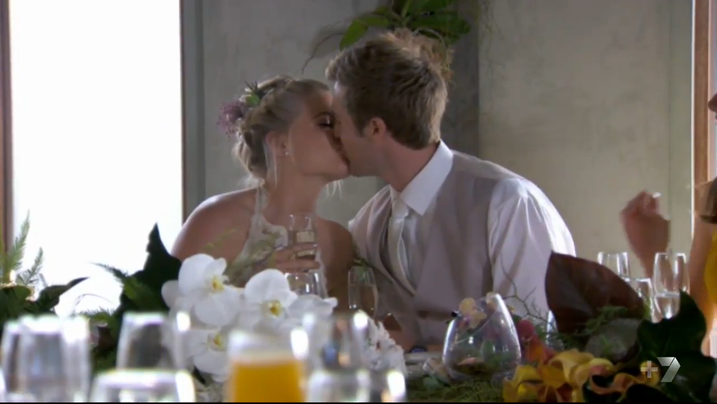 Ricky and Nate Wedding Bridal Table Home and Away
