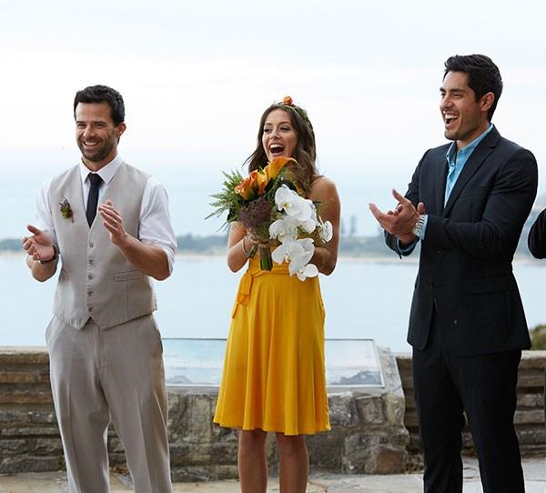 Isabella Giovinazzo aka Pheobe Nicholson as bridesmaid