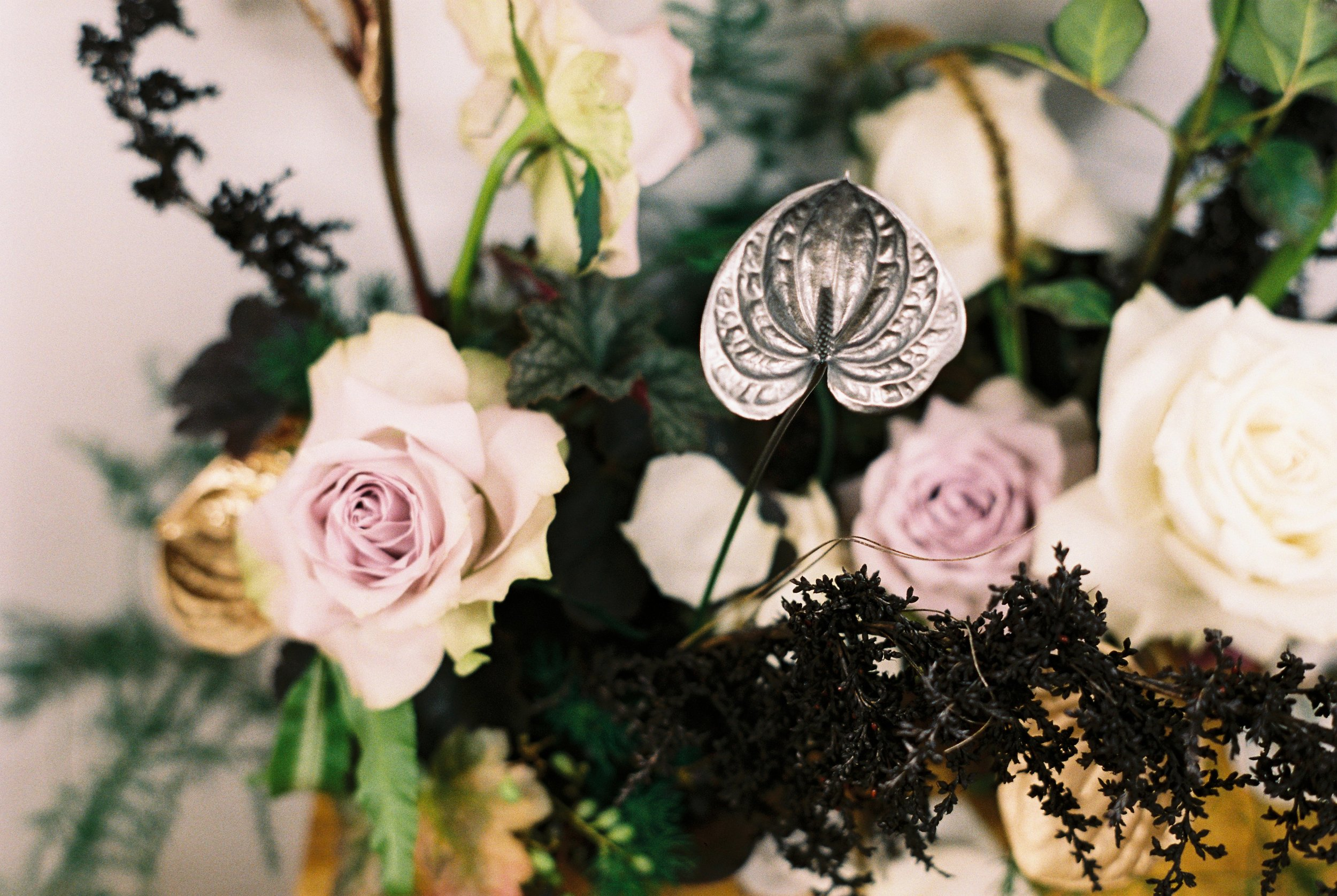 Bloodwood Botanica | Gold & silver Wedding Flowers