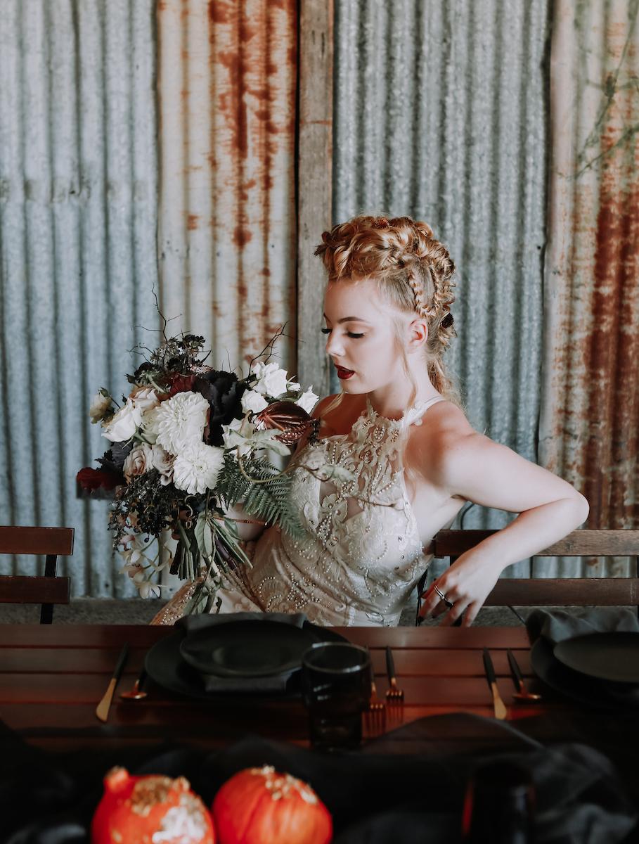 Bloodwood Botanica | Dark moody bridal bouquet