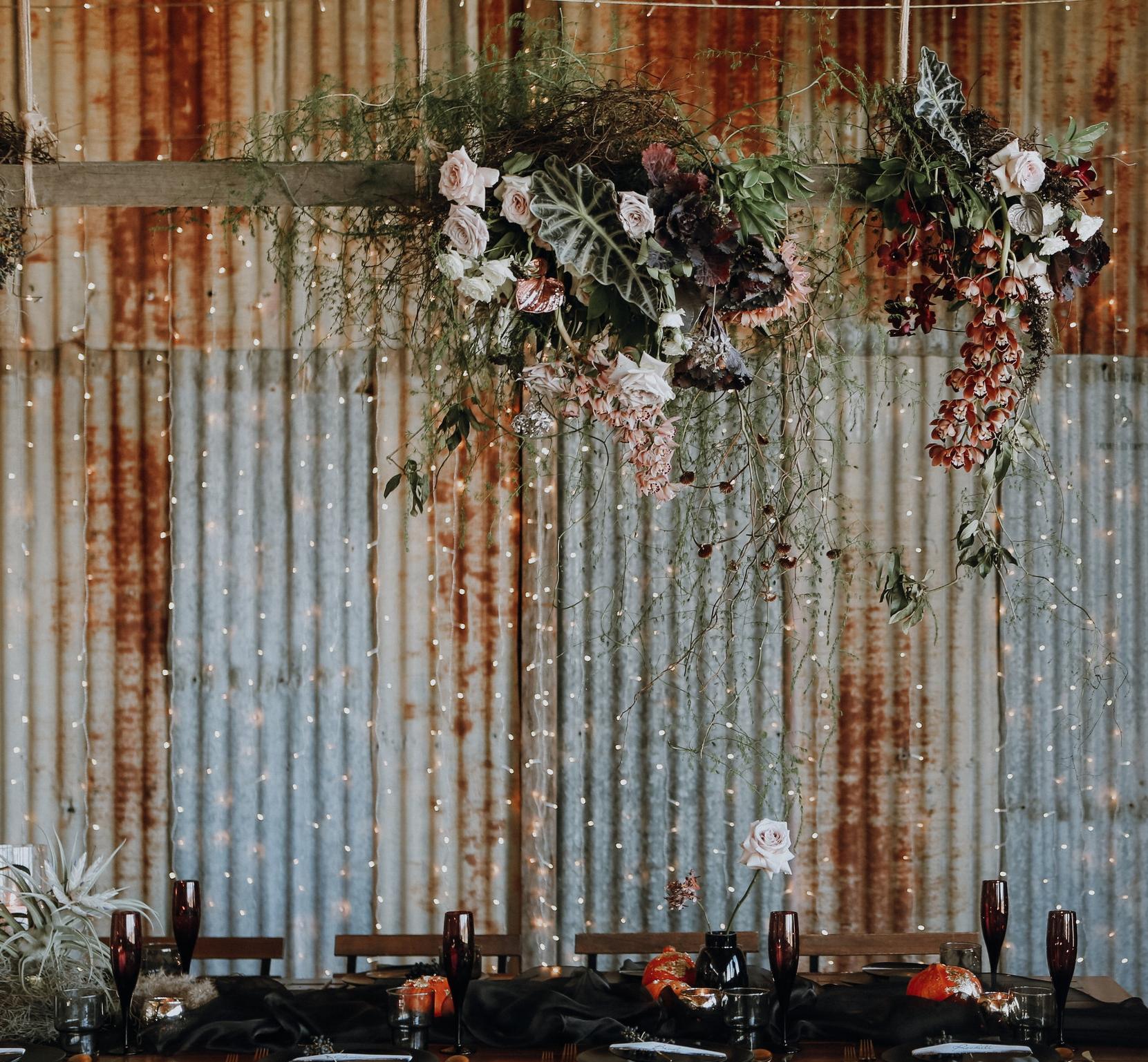 Bloodwood Botanica | Dark Bridal Table