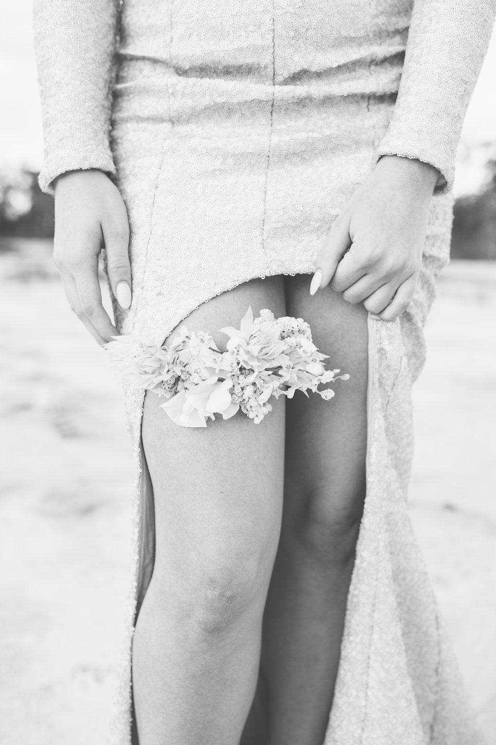 Bloodwood Botanica   Floral Wedding Garter
