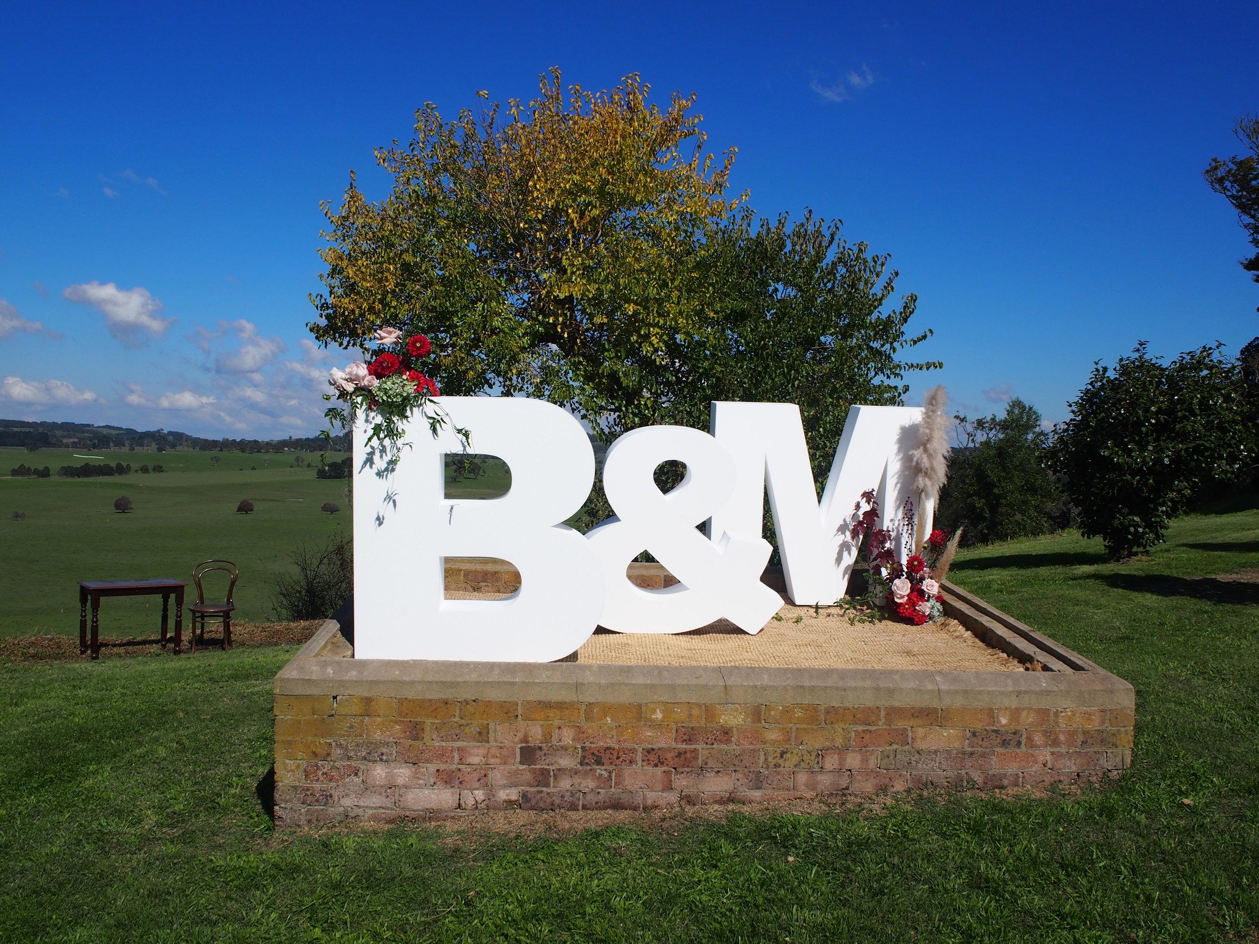 Bloodwood Botanica | Big Giant Floral letters