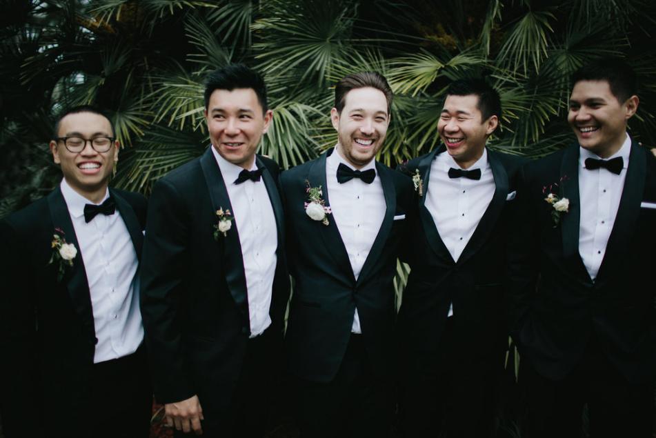 Groomsmen Noosa wedding florist