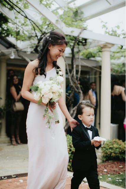 Page boy Noosa wedding flowers