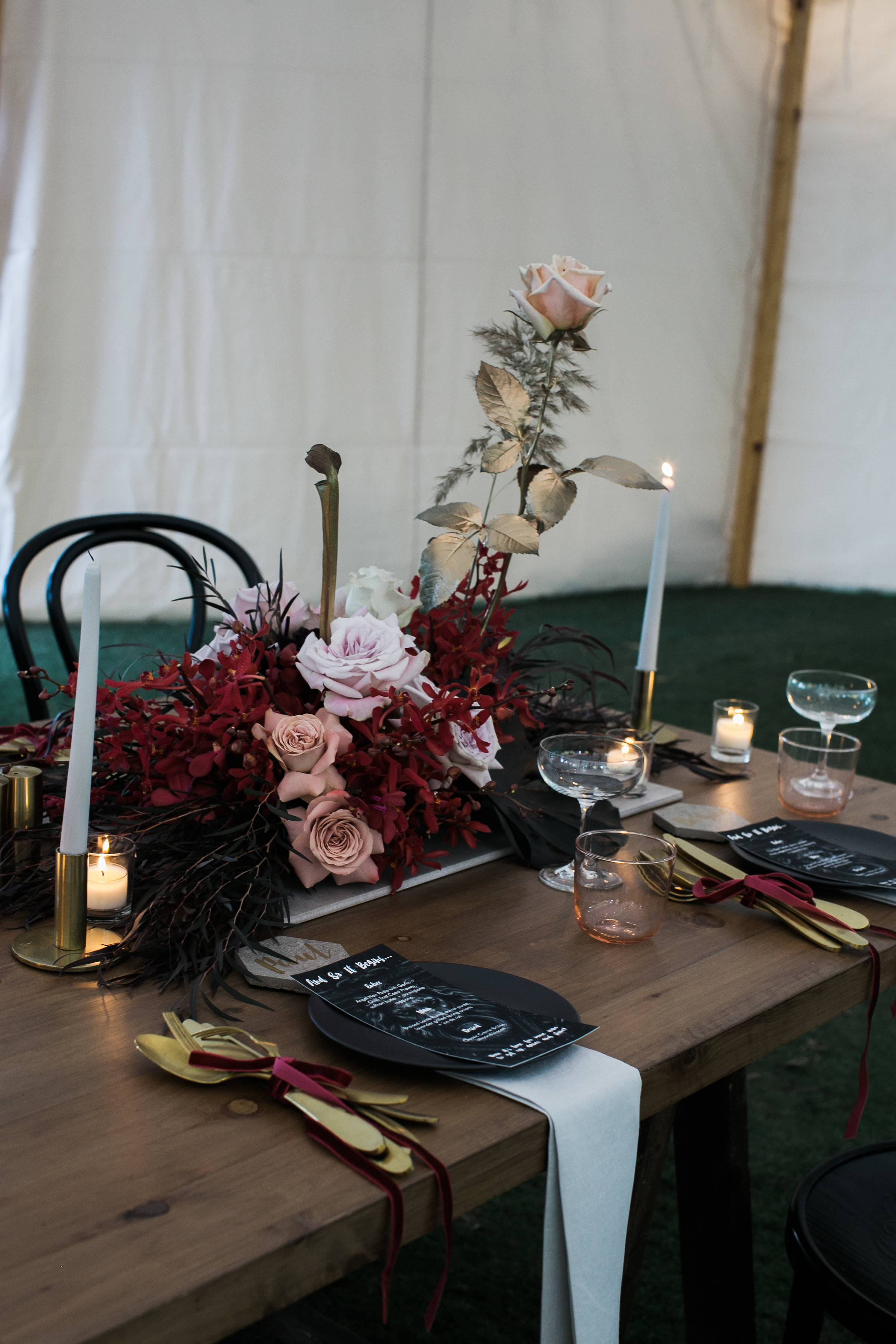 Bloodwood Botanica   Table centers