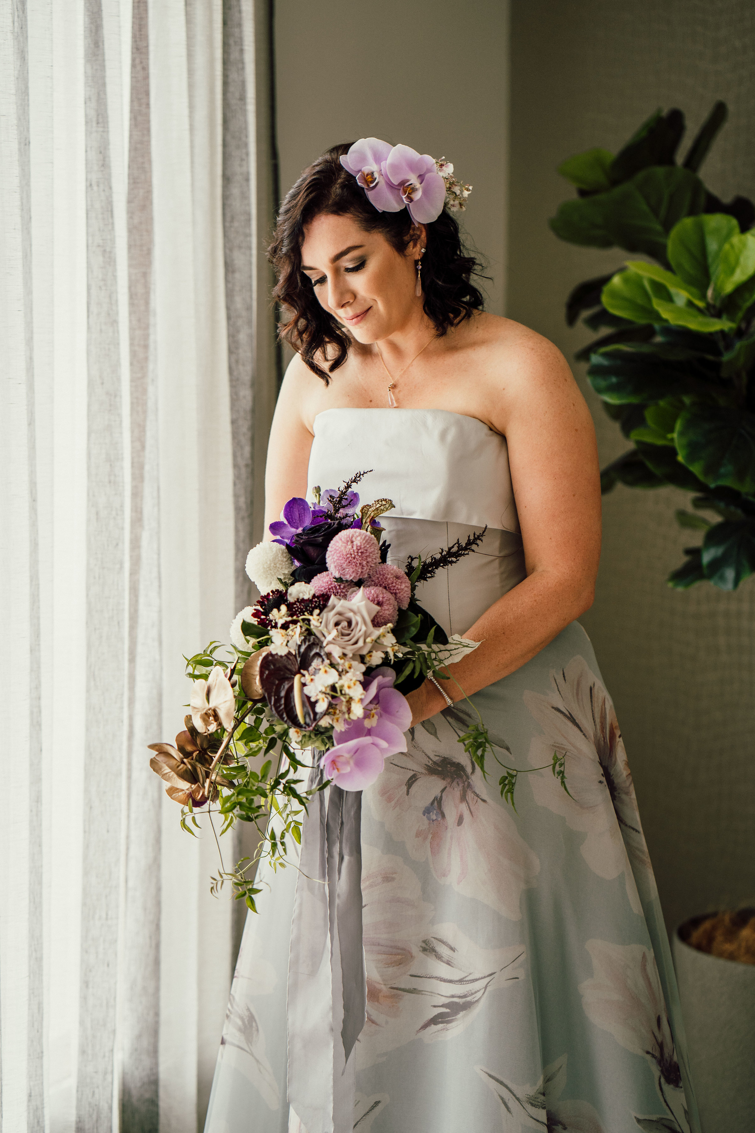 Bloodowood Botanica | Bridal purple orchid Bouquet