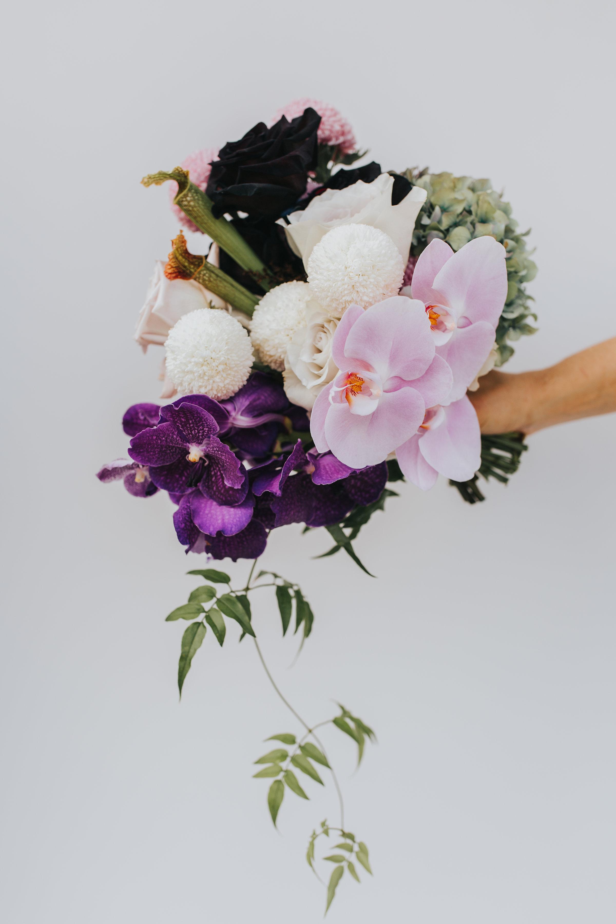 Bloodwood Botanica | Purple Bridesmaids Bouquet
