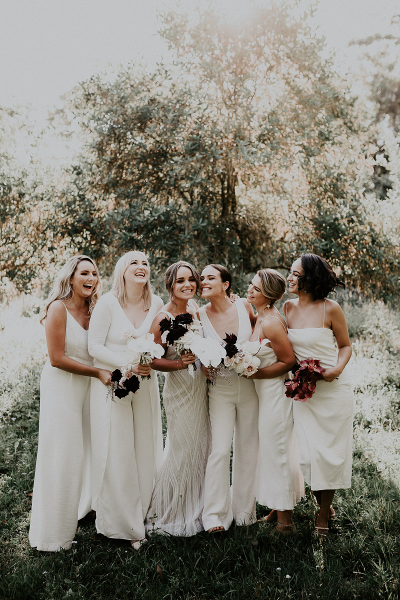Bloodwood Botanica | Bridal bouquet black and white noosa wedding flowers
