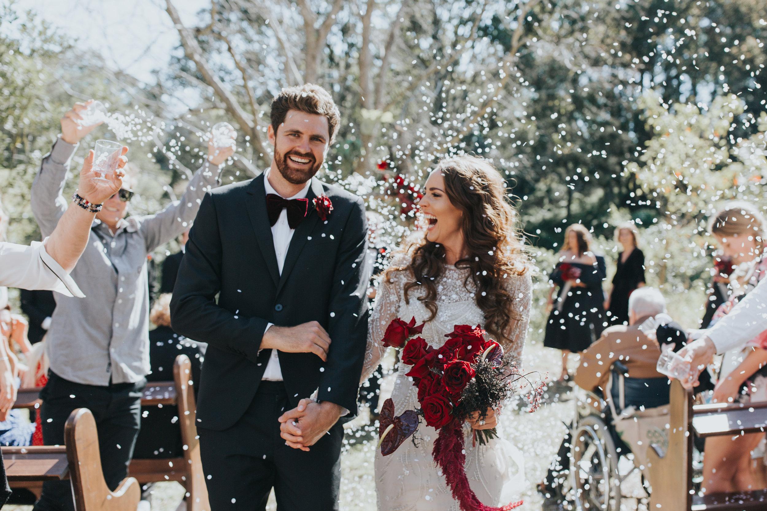 Bloodwood Botanica | Red noosa sunshine coast wedding flowers