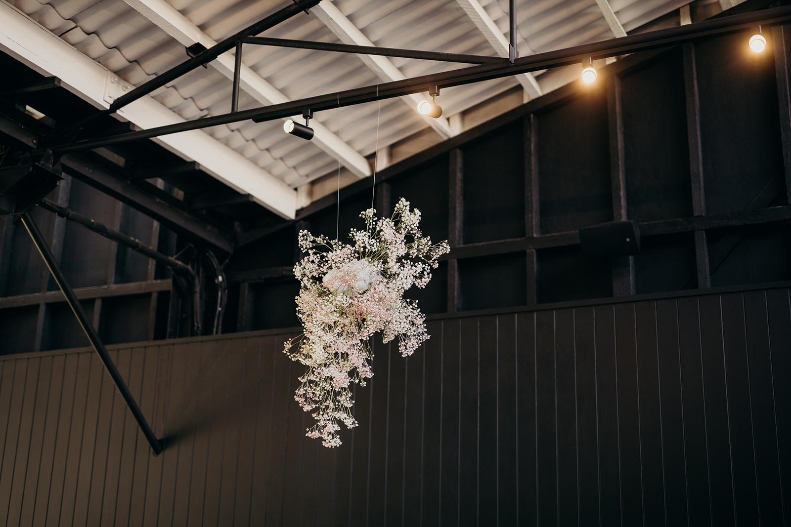 Bloodwood Botanica | flower cloud suspended installation at the refinery