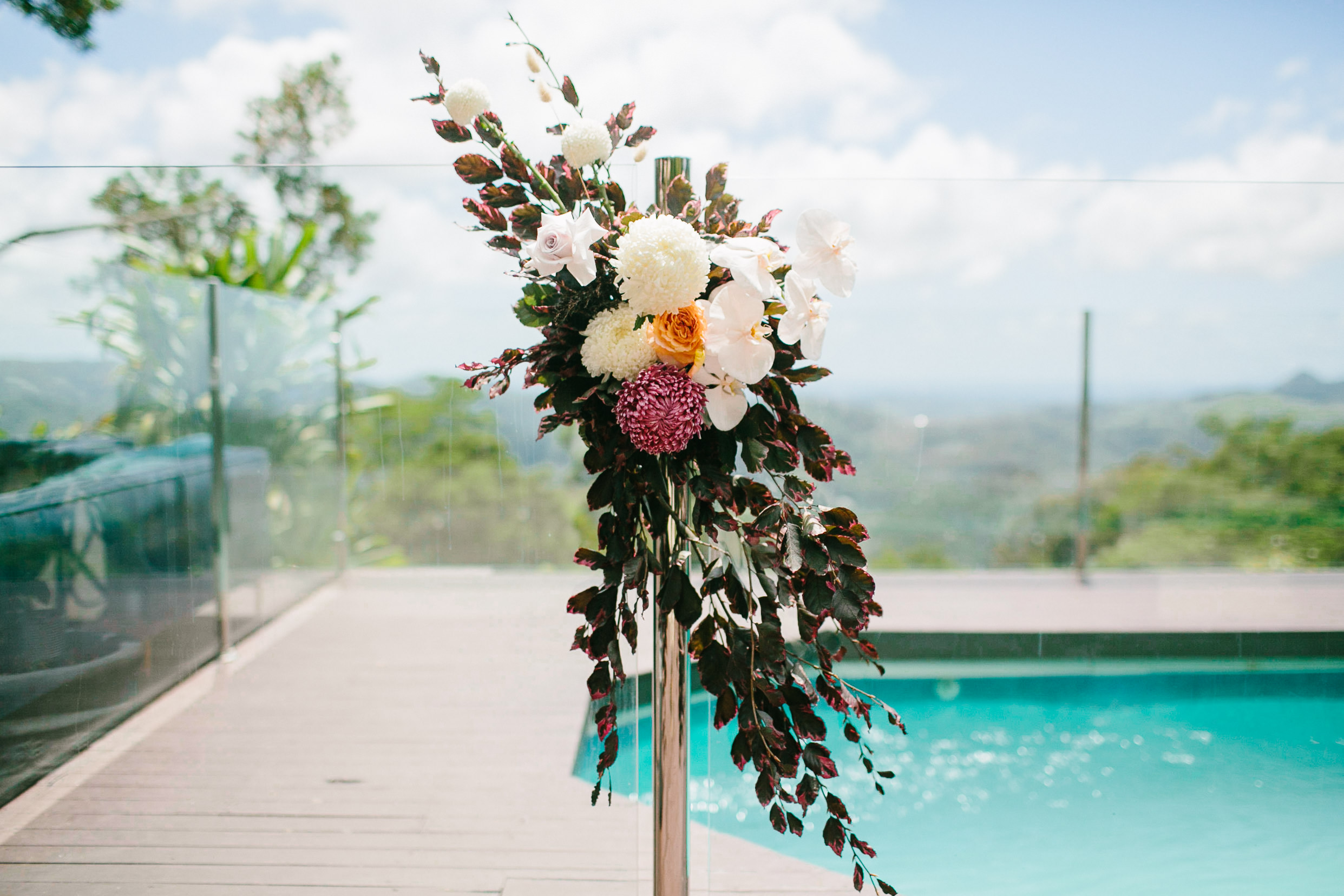 Bloodwood Botanica | Floral fence wedding flowers byron bay