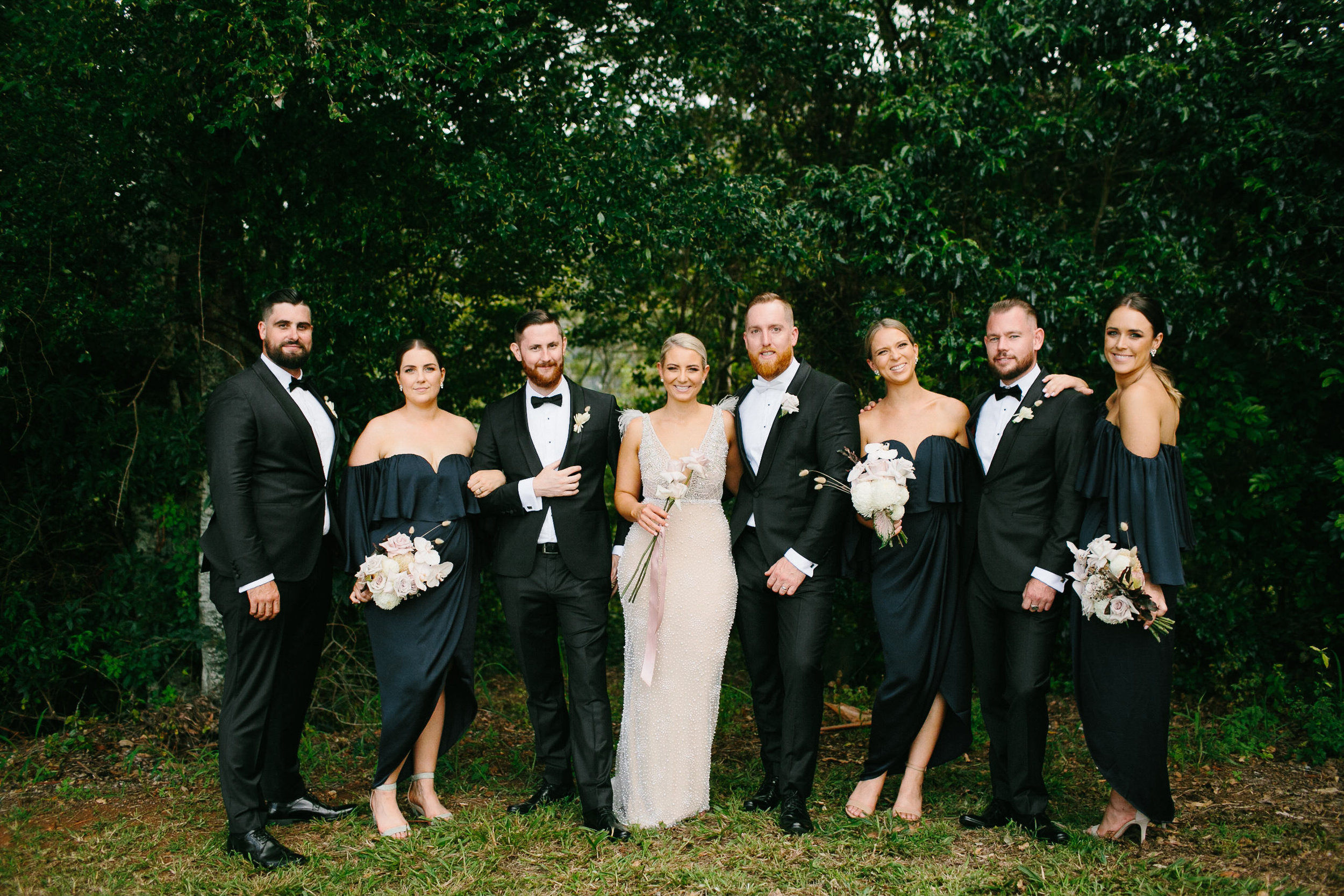 Bloodwood Botanica | Bridal Party byron bay wedding flowers