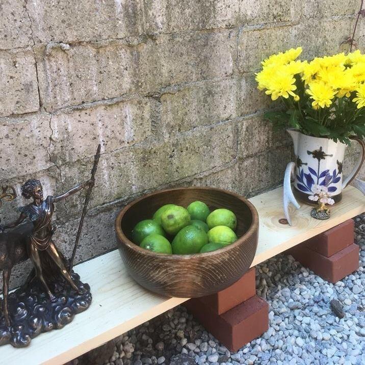 "Marie's goddess altar for the wisdom theme of ""Gaia."""