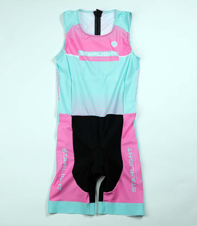 Women's Tri Suit with 5cm Italian Power band leg openings.