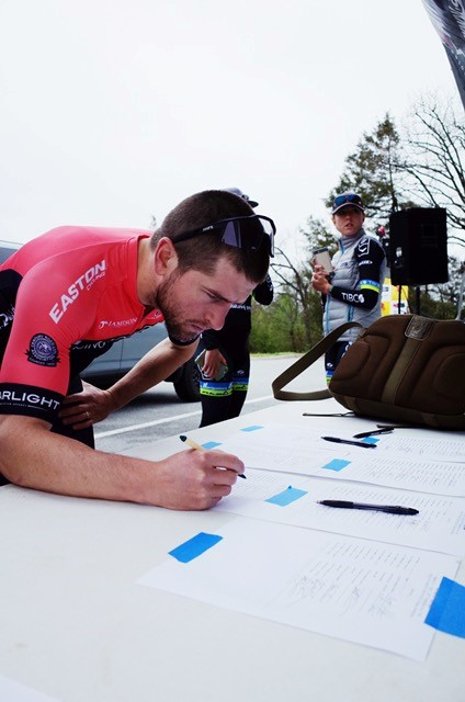 Signing in at the 2017 Joe Martin Stage Race