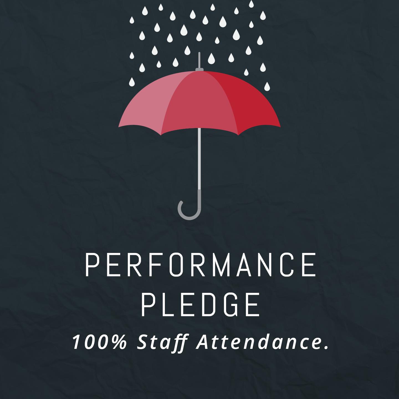 100% staff attendance – guaranteed.