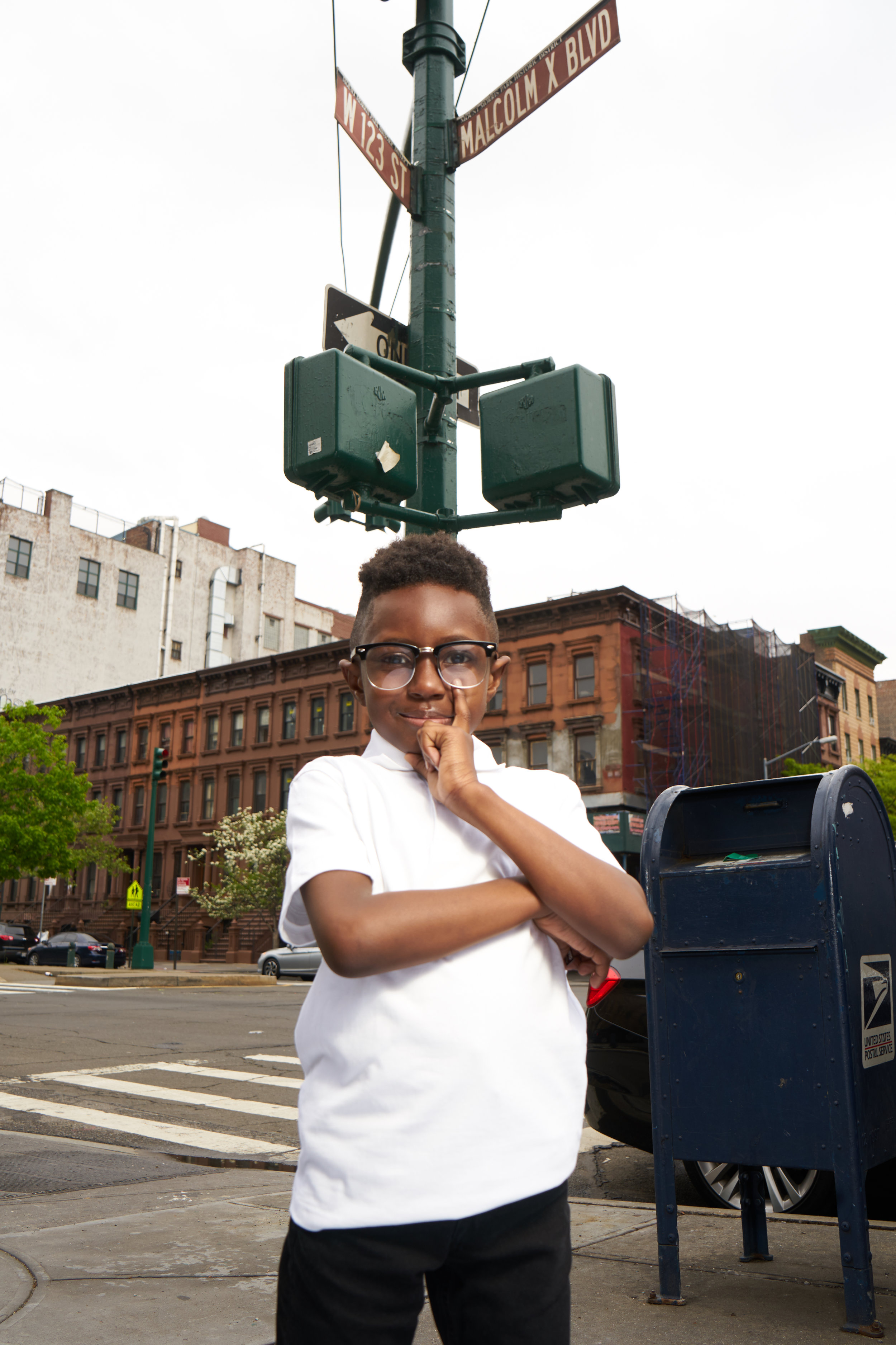 Corey on the corner of 123rd Street and Malcolm X Blvd. Harlem, New York City.