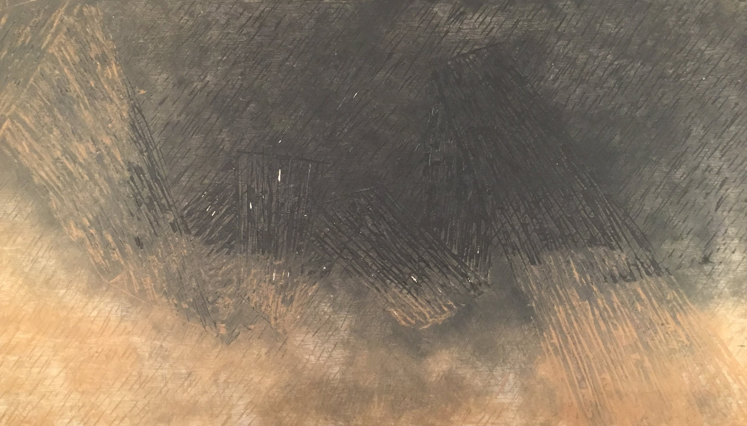 Untitled, Charcoal and Rust