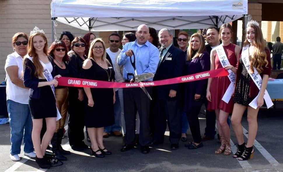 FZ Tax Services Grand Opening February 4, 2017. Owner FZ Tax Services Frank Zamora (center).