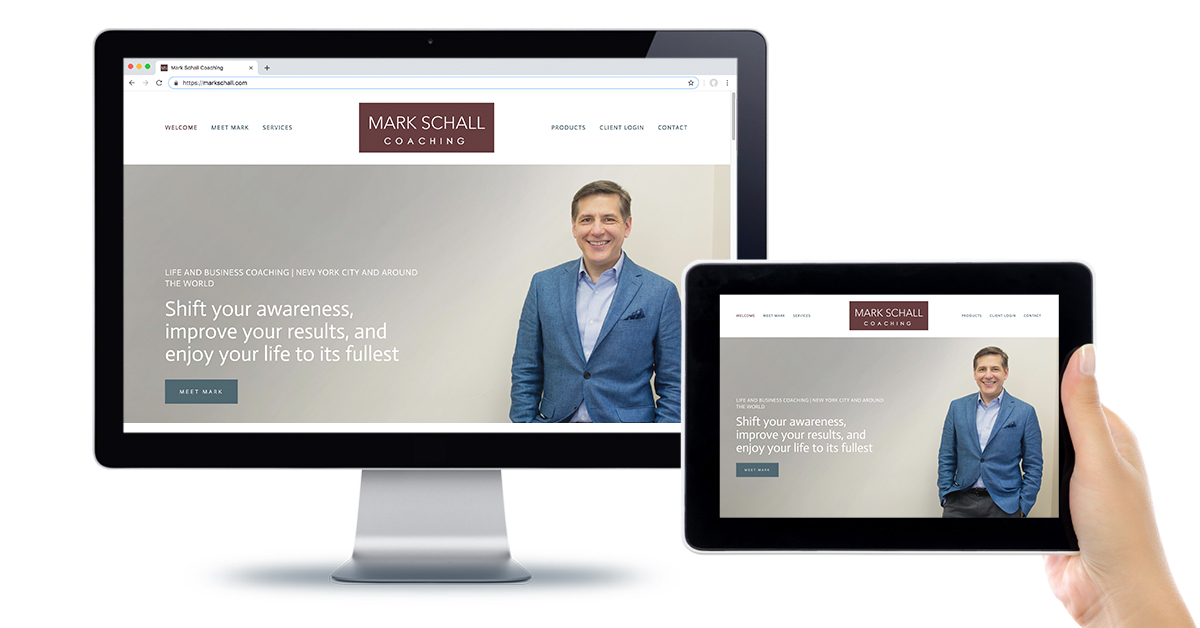 "Mark Schall - ""Thank you Michael and Level 7 Websites for doing such a great job on my website! I had no idea how much it needed an upgrade until you did it and I started receiving compliments on it! You rock!"" - See full website at markschall.com"