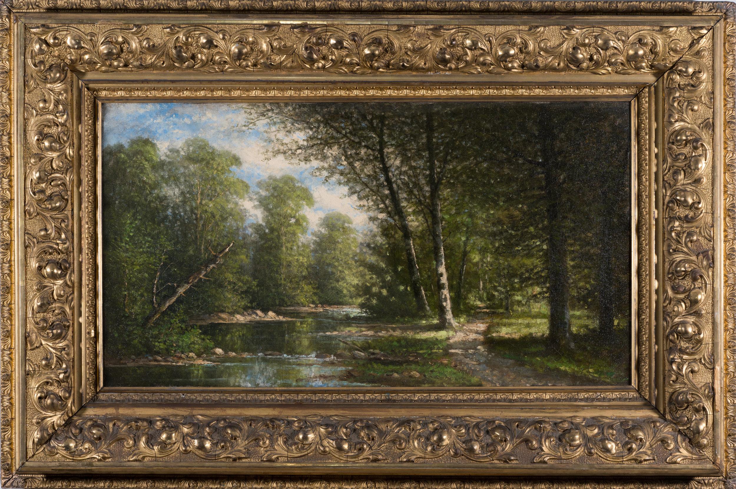 Carl Christian Brenner (Kentucky, 1838-1888) Landscape.