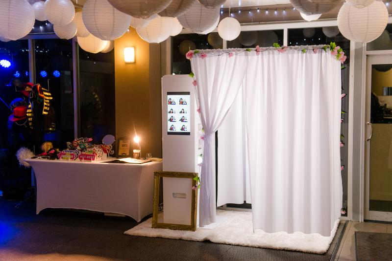 Formal Booth - This is our fully customizable booth. We will work with you to construct a unique booth to match your event decor.Base 4 hour Package - from $750