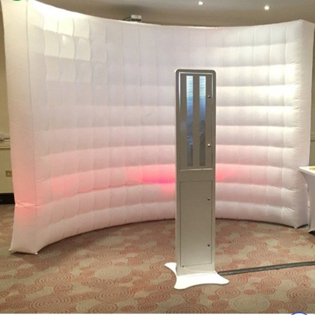 Inflatable Backdrop - Looking for a classy look for your event? This inflatable backdrop will produce great pictures in an open air Photo Booth setting. The backdrop also has lighting to match your event decor.Addl. $75