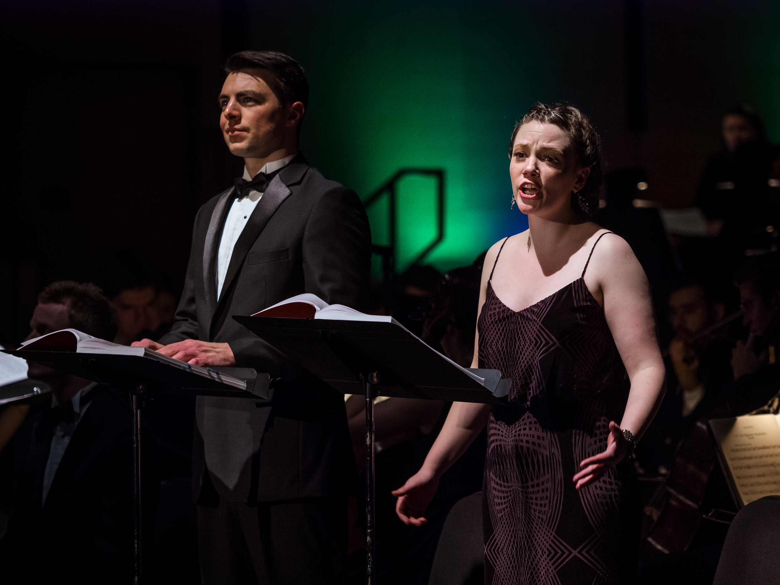 Luke Macmillan and Elaine Daiber as Maximillian and Paquette in Leonard Bernstein's 'Candide'