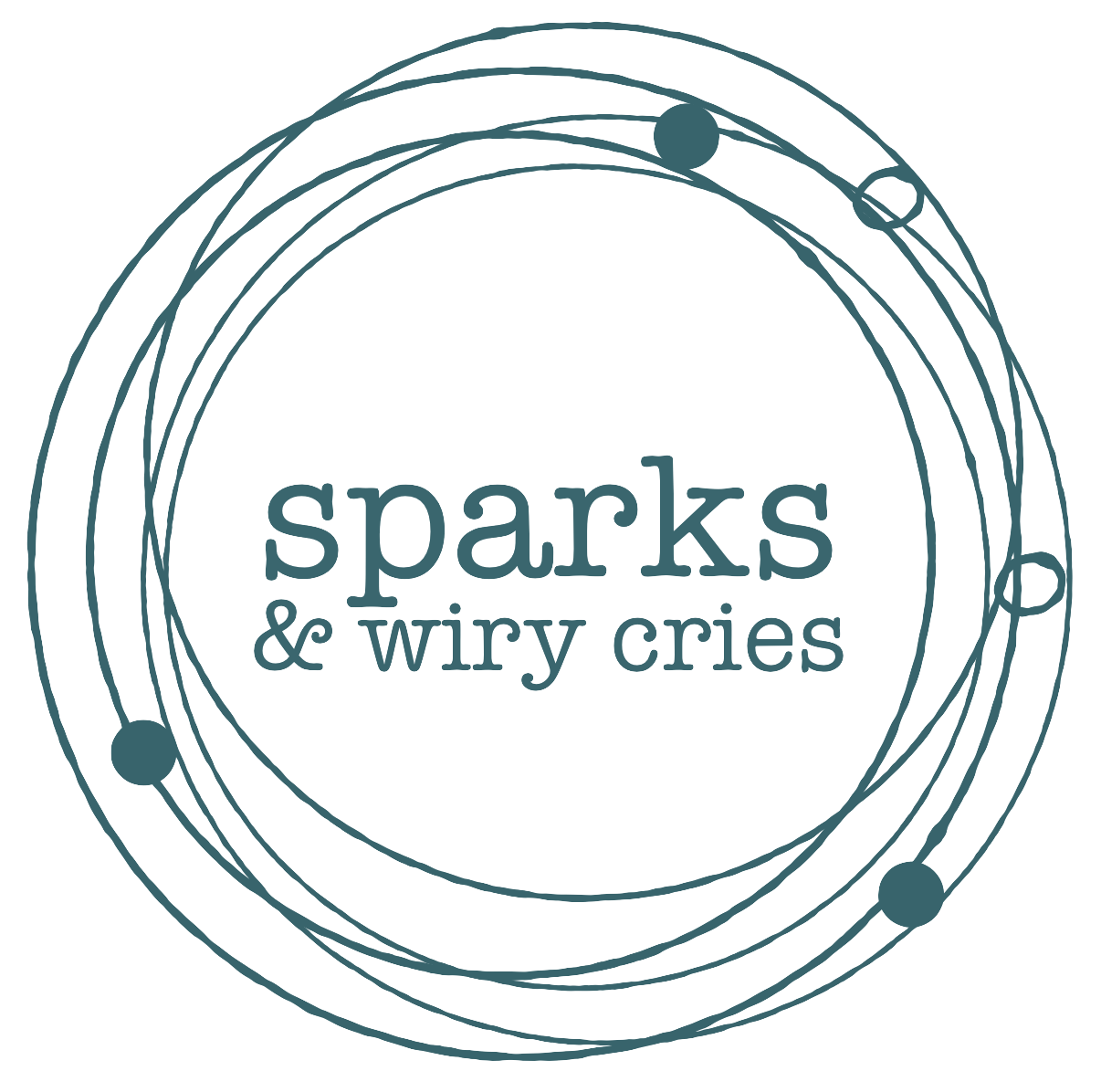 Logo Redesign: Sparks & Wiry Cries - An abstraction of sheet music creates a dynamic container for a new suite of logos for this leading-edge concert producer and art song magazine.