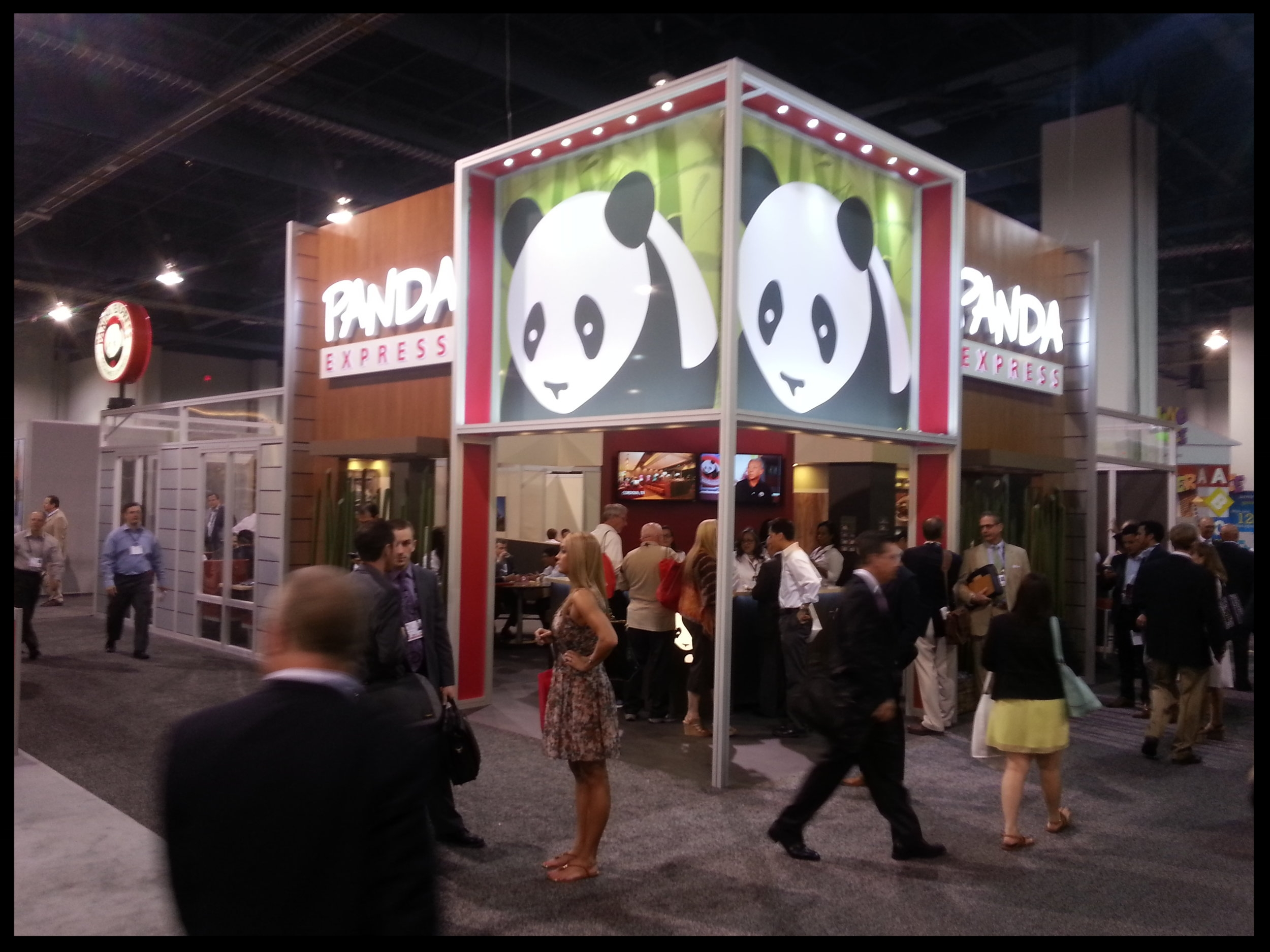 The Panda Express booth at the 2014 ICSC Las Vegas convention