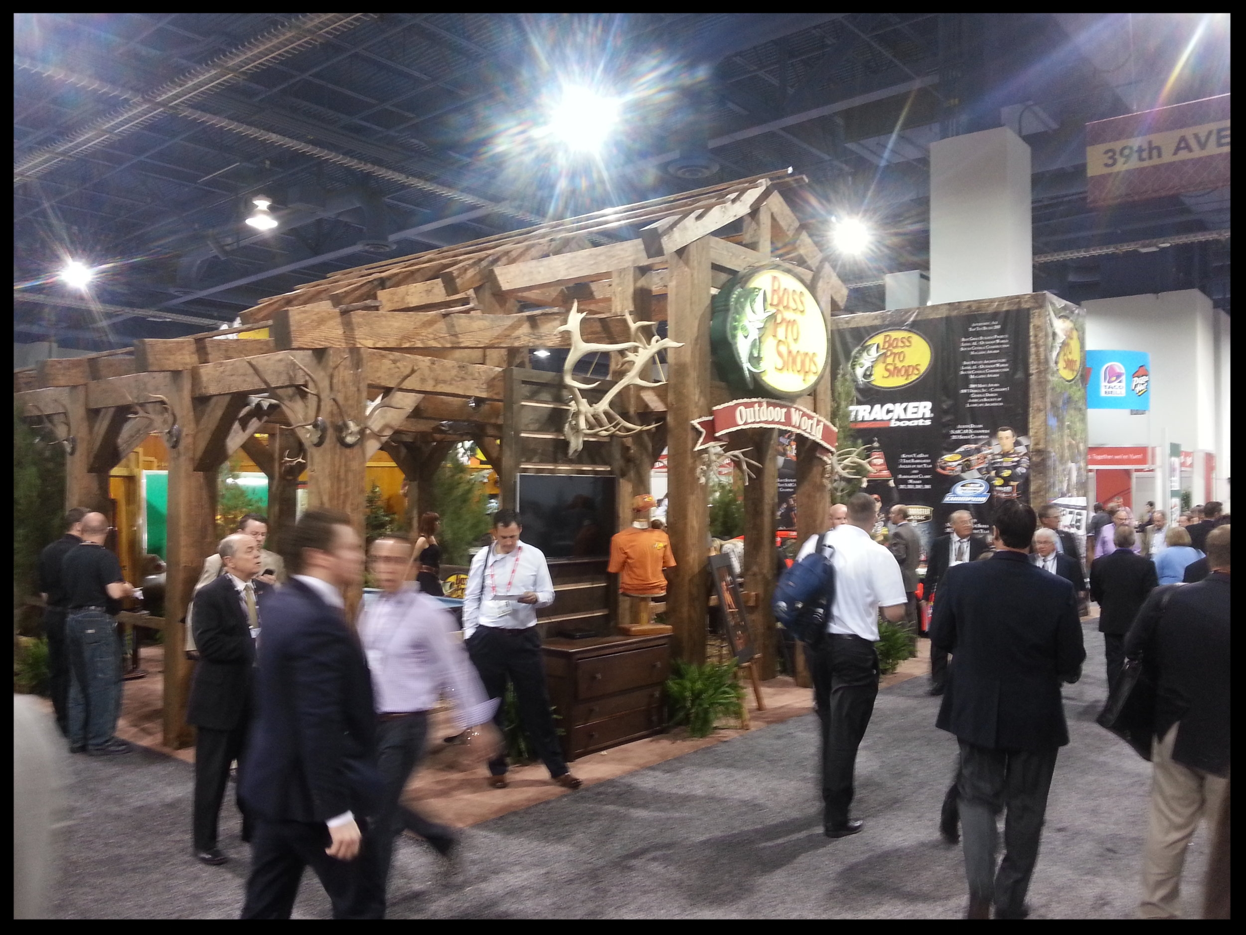 The Bass Pro Shops booth at the 2014 ICSC Las Vegas convention.