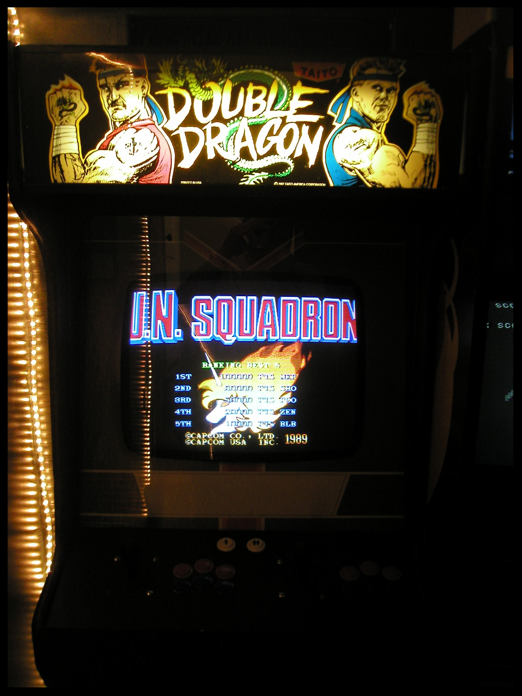 A shot of the switched out board set. Makes for a confusing time at the arcade, eh?