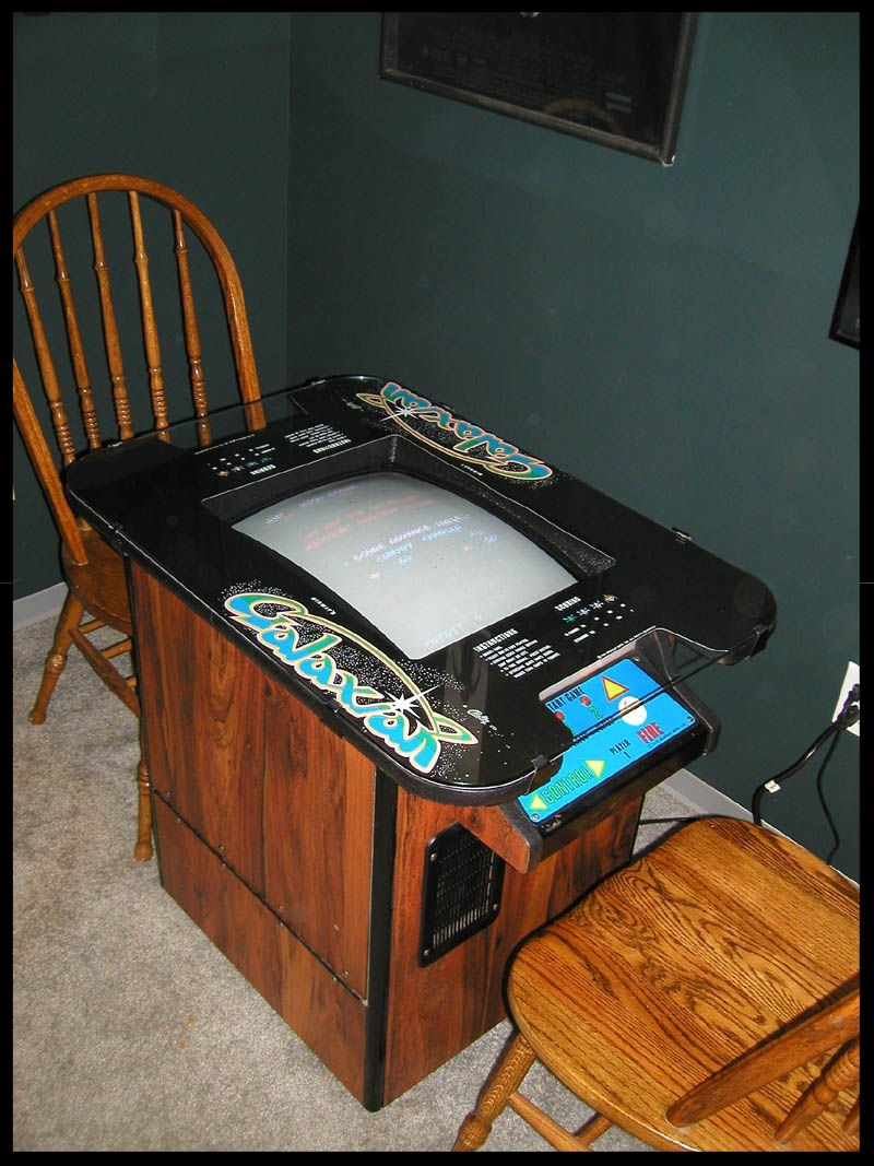 The Galaxian cocktail. A real space hog due to the necessity of two chairs.