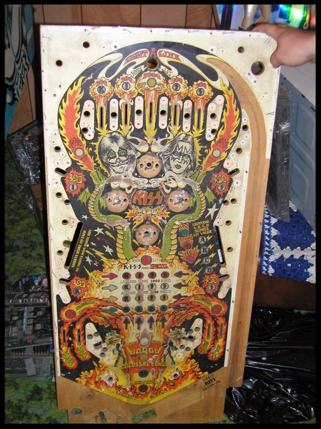 A playfield Steve picked up on eBay. The poor thing was haggard.