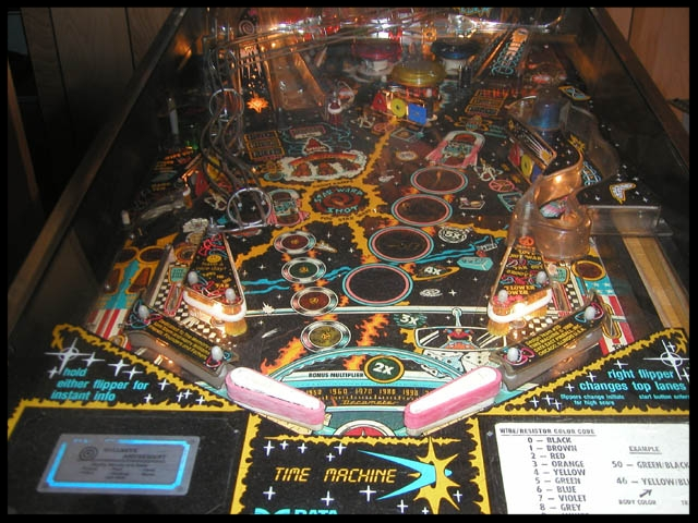 The lower portion of the playfield.
