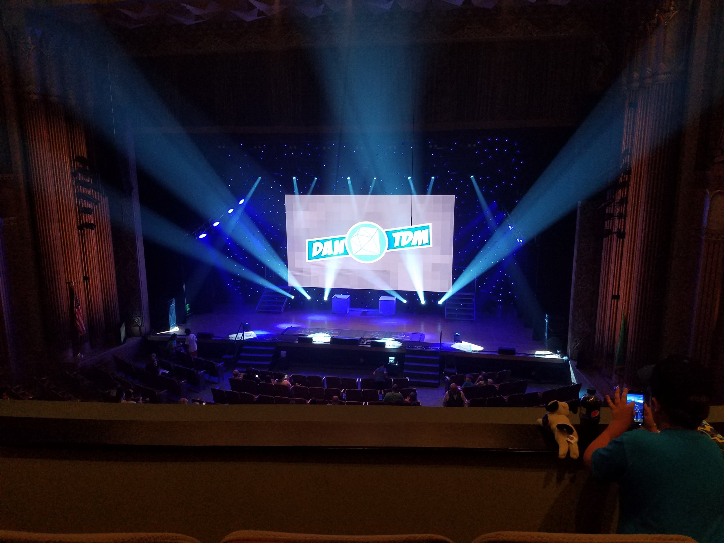 A photo of the stage before the show started.    This post may contain affiliate links.  Learn more by reading my  disclosure .