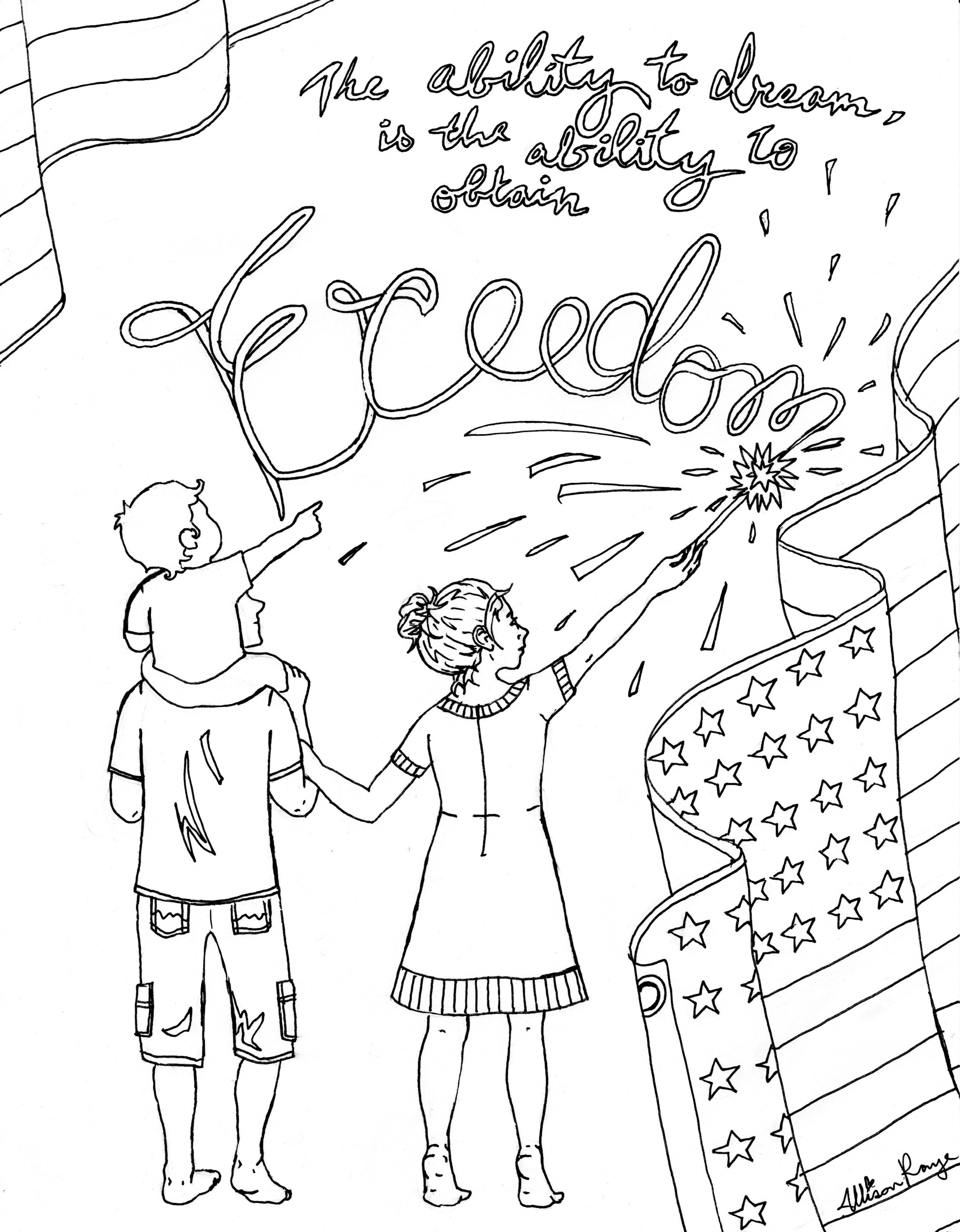 The button below leads to a pdf file of this coloring page which you can download and print!